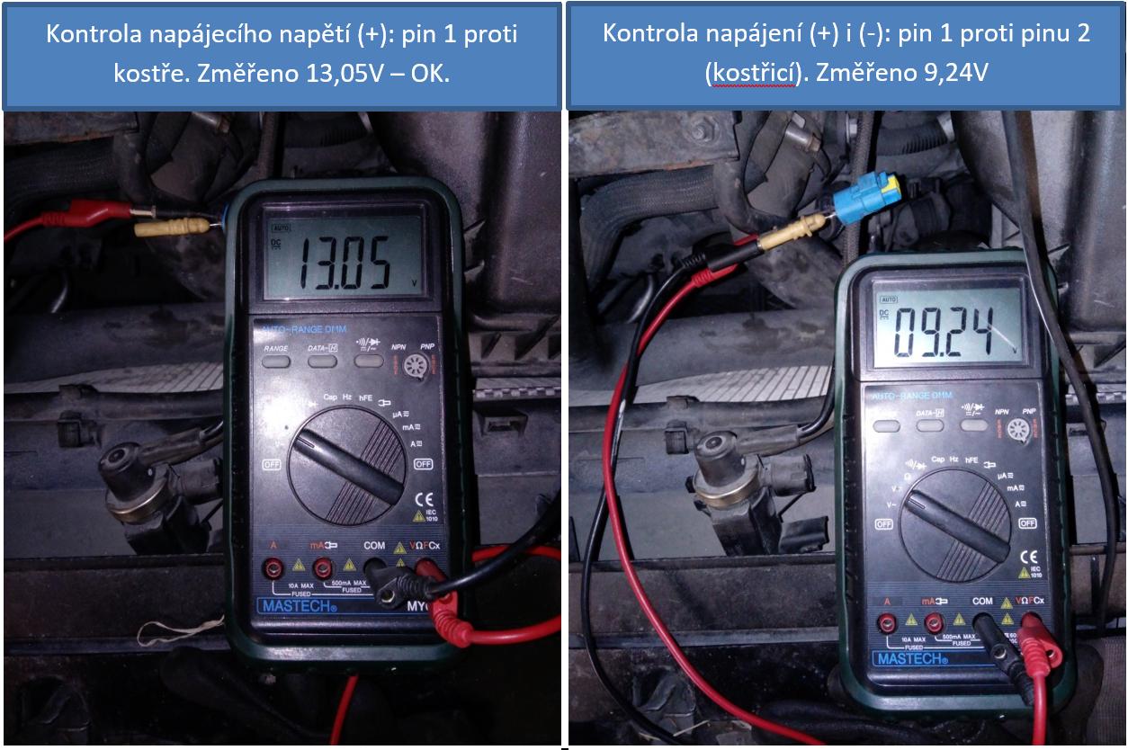 Kontrola napájení elektromagnetického (PWM) ventilu EGR